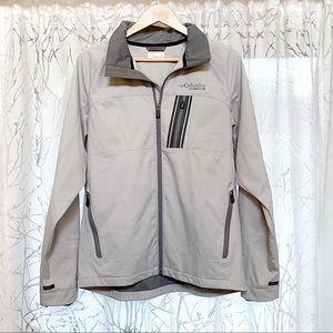 Columbia titanium gray zip up all weather jacket